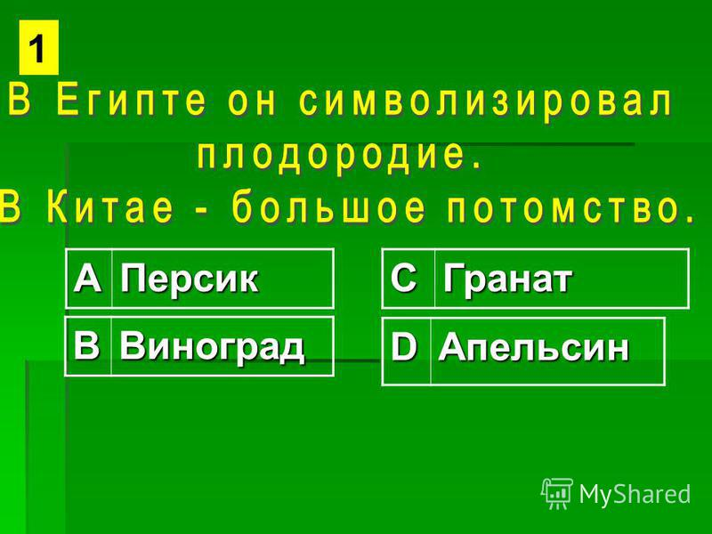 АПерсикСГранат ВВиноград DАпельсин 1