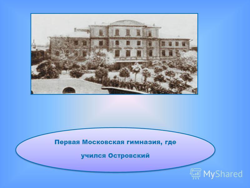Первая Московская гимназия, где учился Островский