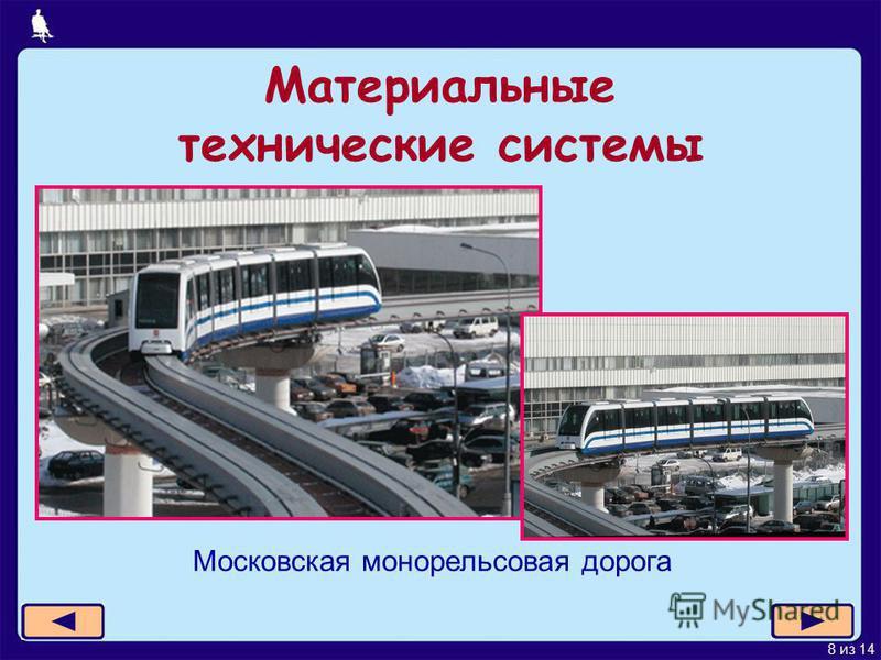 8 из 14 Материальные технические системы Московская монорельсовая дорога