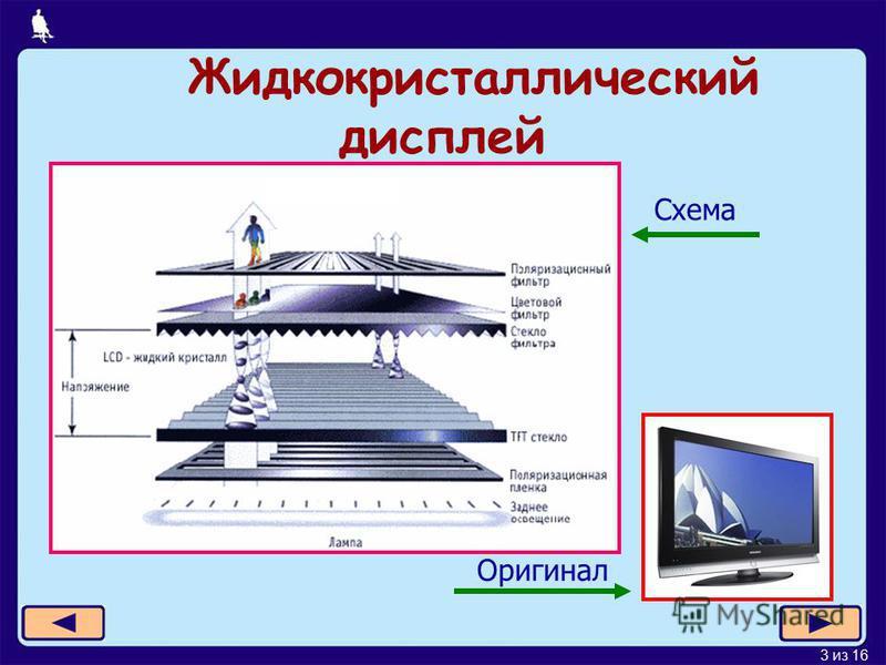 3 из 16 Жидкокристаллический дисплей Схема Оригинал
