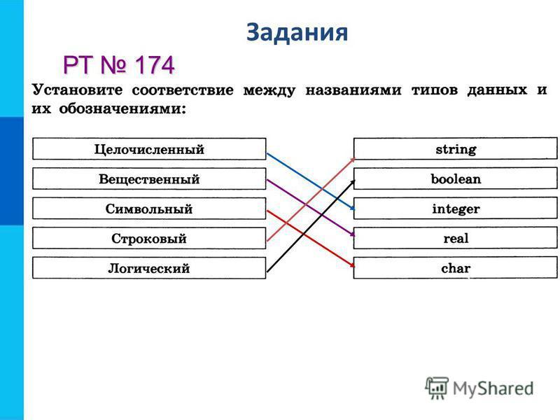 Задания РТ 174