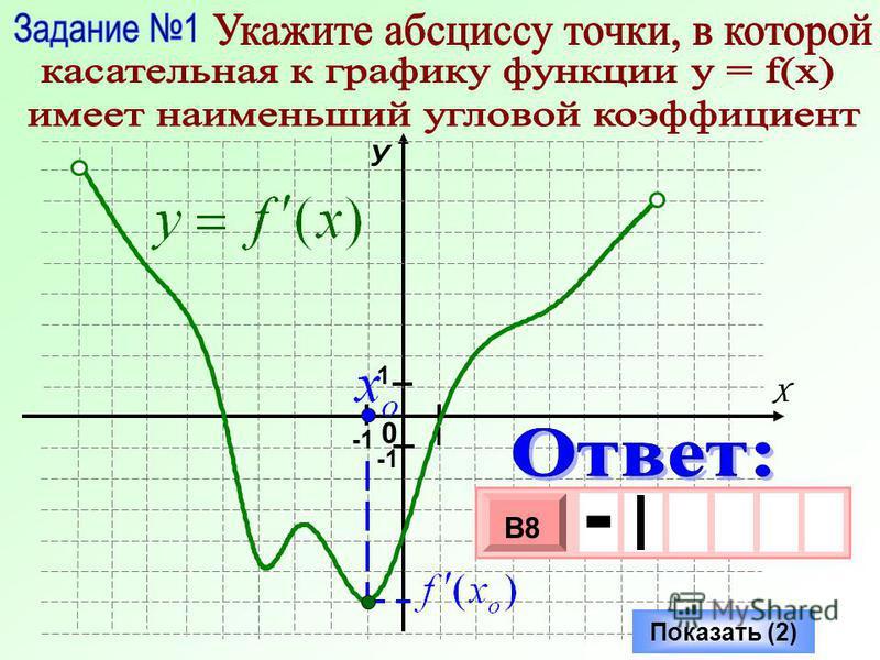 0 У Х 1 1 Показать (2) - 3 х 1 0 х В8 -