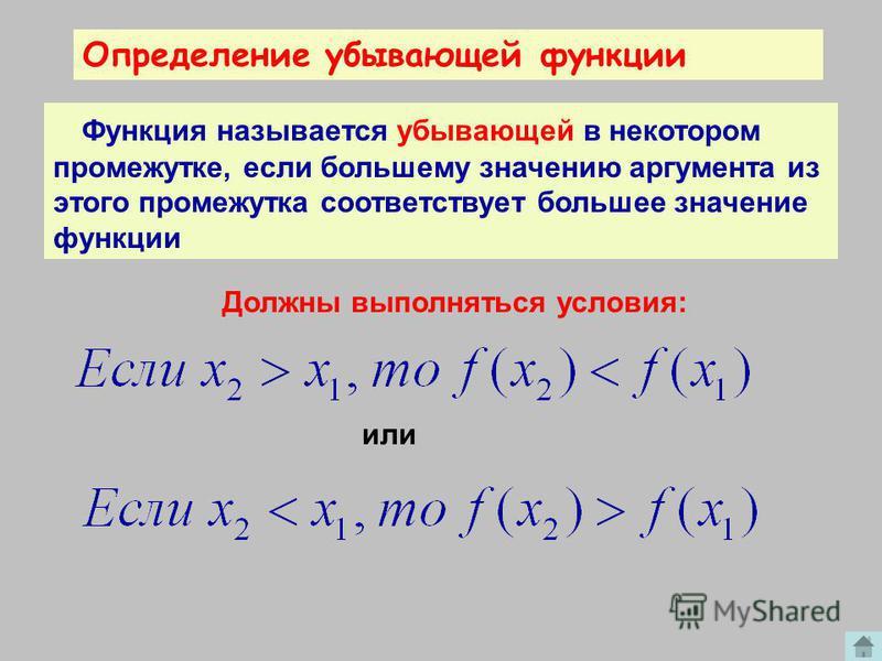 -10 х у 0 Возрастающая функция. х 1 х 1 х 2 х 2 у 1 у 1 у 2 у 2 Х 2 >Х 1, то У 2 >У 1.