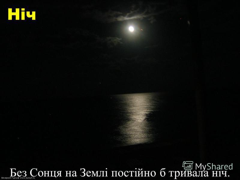 Ніч Без Сонця на Землі постійно б тривала ніч.