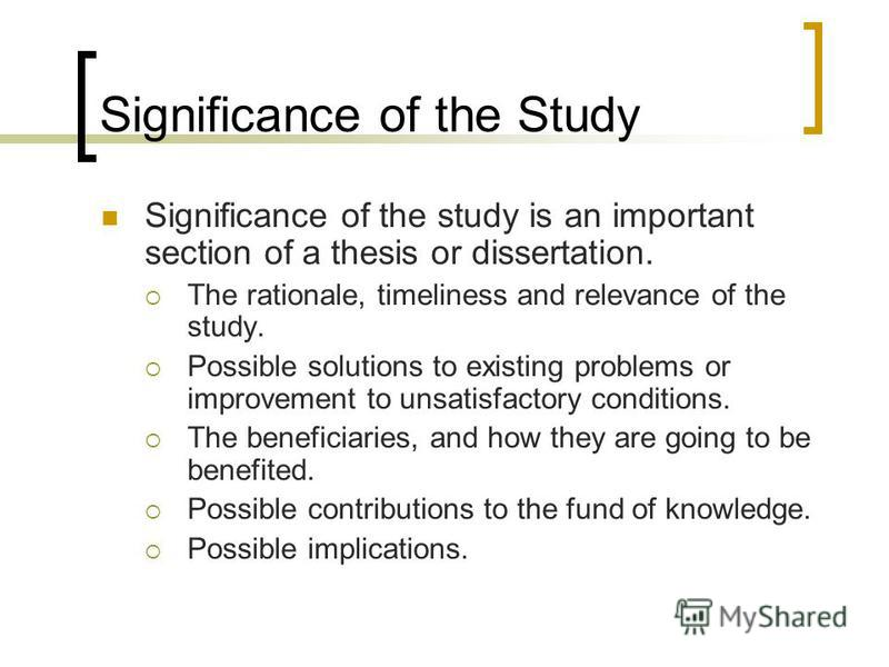 sample thesis purpose of the study