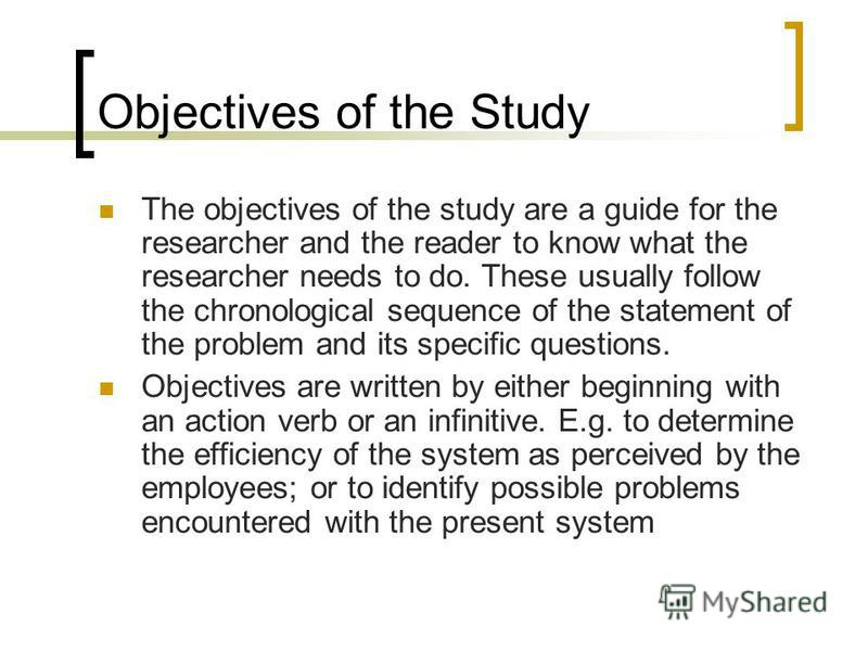 how to write objectives of the study in thesis