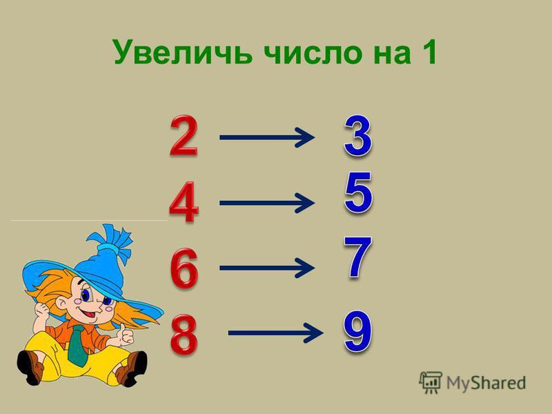 Увеличь число на 1