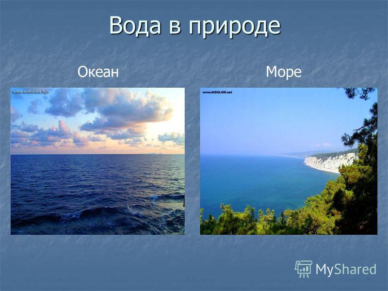 Вода в природе Океан Море