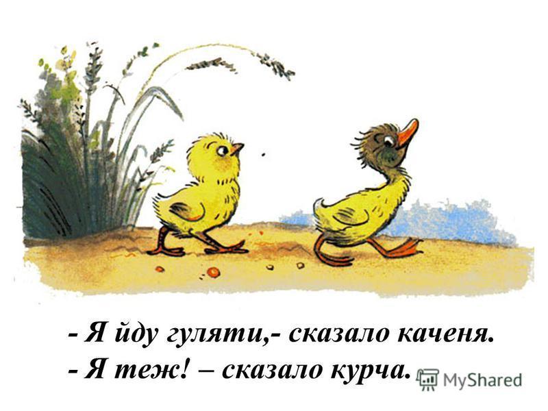 - Я теж! – сказало курча.