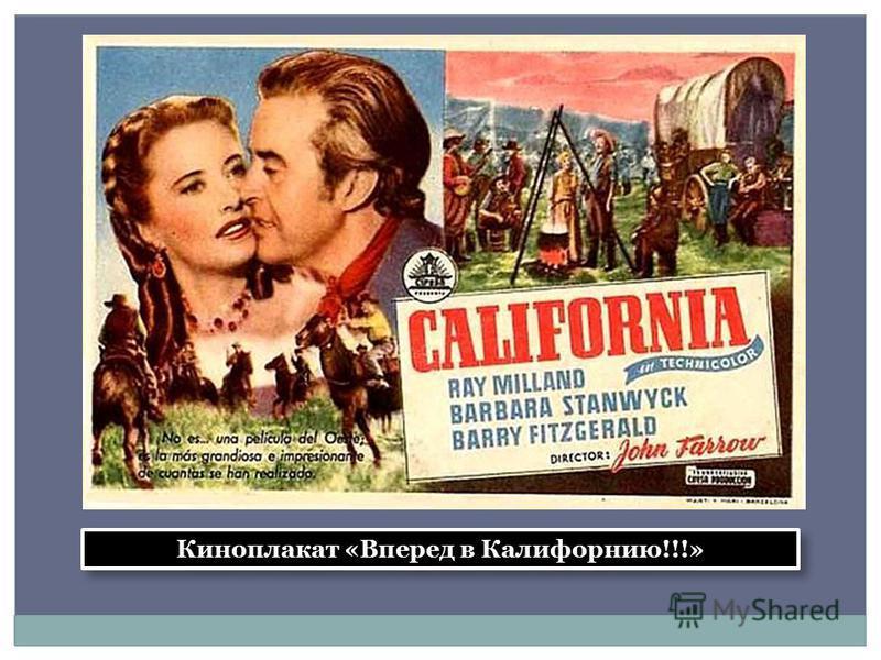 Киноплакат «Вперед в Калифорнию!!!»