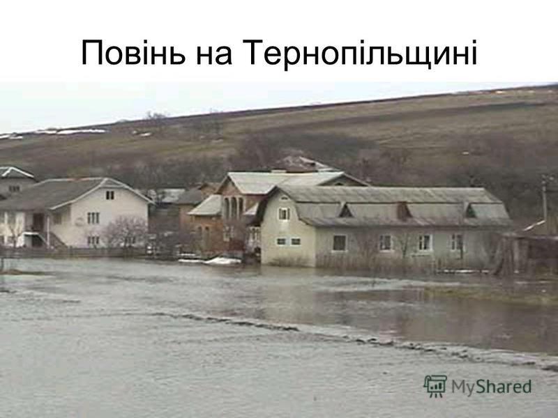 Повінь на Тернопільщині