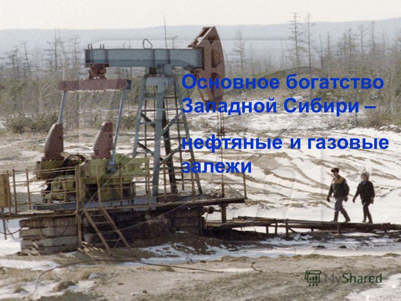 Основное богатство Западной Сибири – нефтяные и газовые залежи