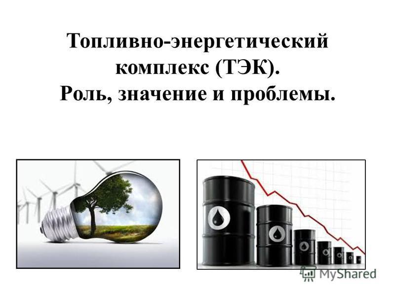 Топливно-энергетический комплекс (ТЭК). Роль, значение и проблемы.
