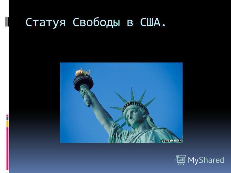 Статуя Свободы в США.