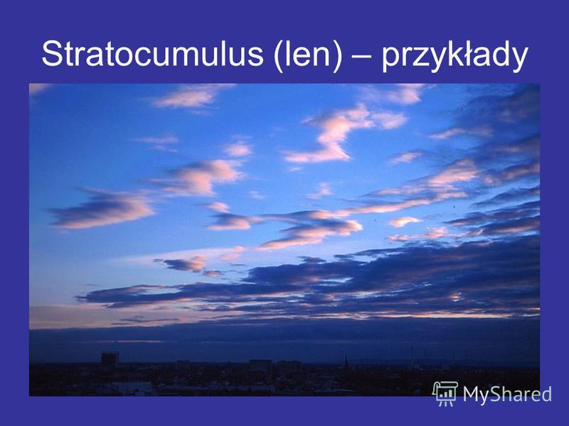 Stratocumulus (len) – przykłady