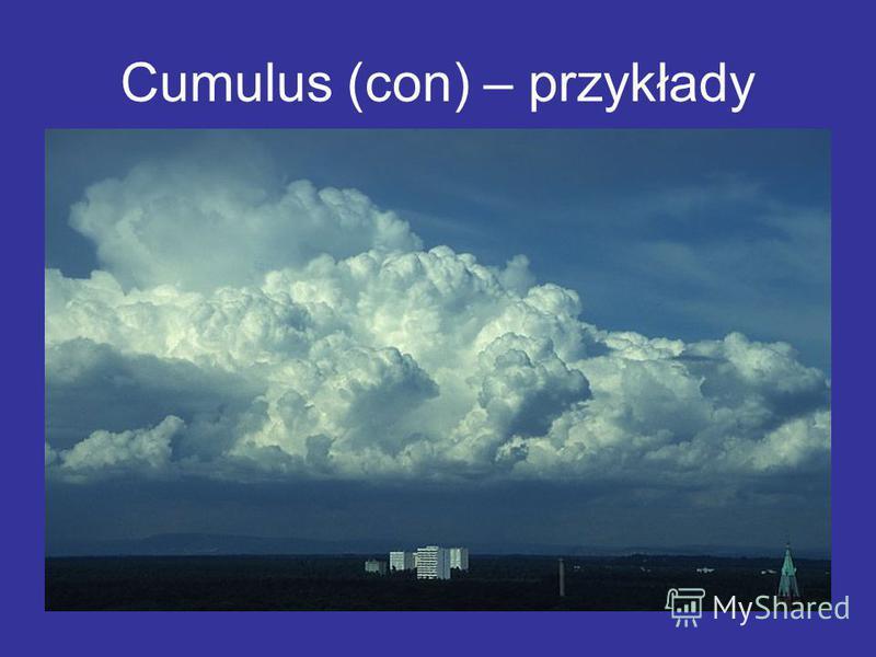 Cumulus (con) – przykłady