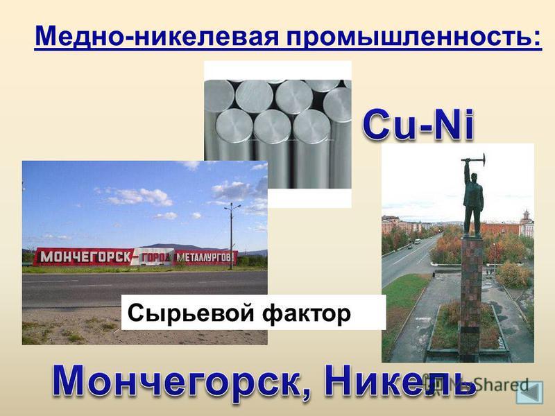 Медно-никелевая промышленность: Сырьевой фактор