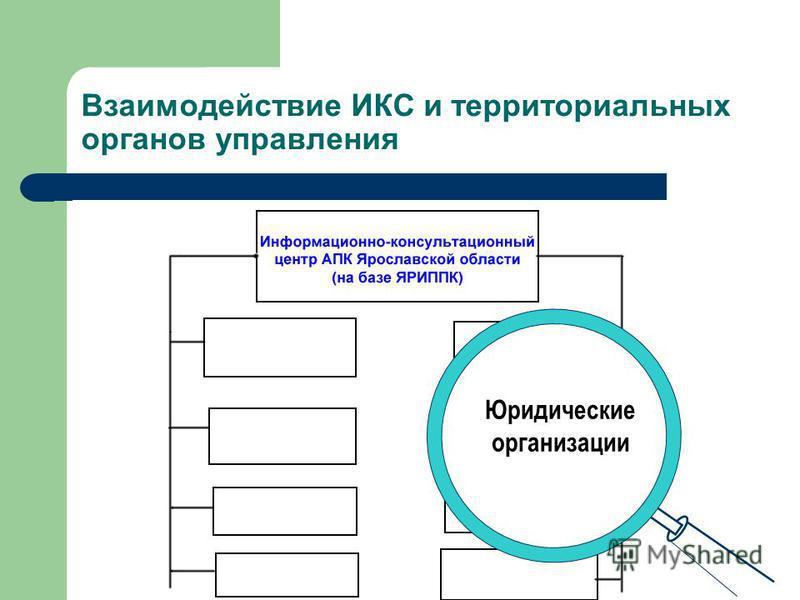 Взаимодействие ИКС и территориальных органов управления С.-х. техникумы, училища Ярославской области