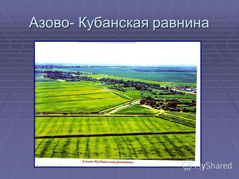 Азово- Кубанская равнина