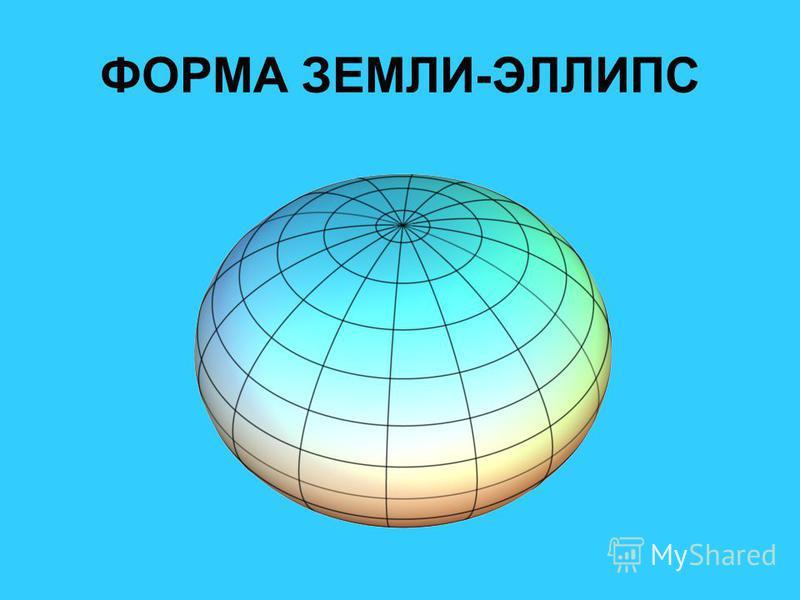 ФОРМА ЗЕМЛИ-ЭЛЛИПС
