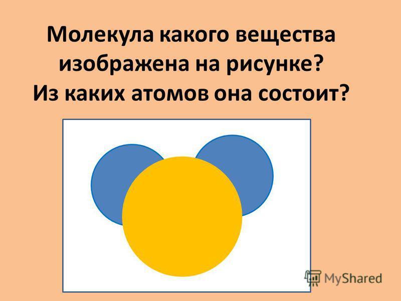 Молекула какого вещества изображена на рисунке? Из каких атомов она состоит?