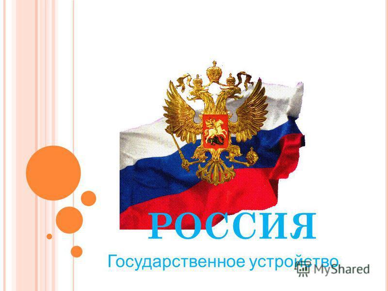 РОССИЯ Государственное устройство