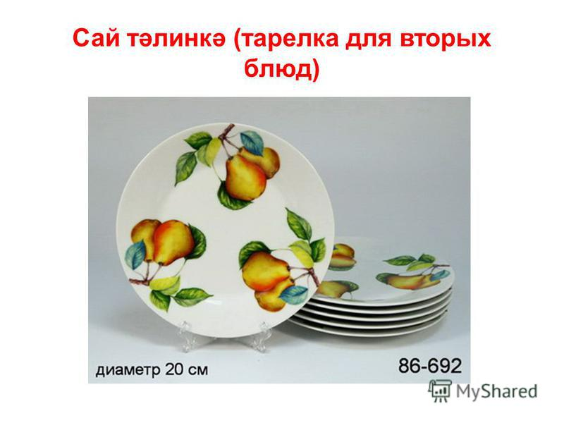 Сай тәлинкә (тарелка для вторых блюд)