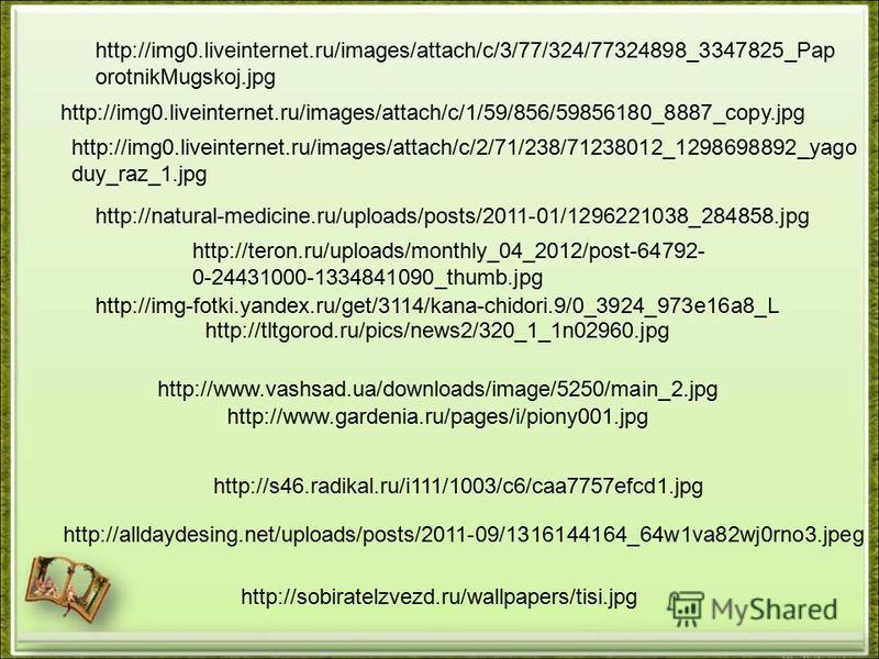 http://tltgorod.ru/pics/news2/320_1_1n02960. jpg http://teron.ru/uploads/monthly_04_2012/post-64792- 0-24431000-1334841090_thumb.jpg http://www.gardenia.ru/pages/i/piony001. jpg http://s46.radikal.ru/i111/1003/c6/caa7757efcd1. jpg http://img0.liveint