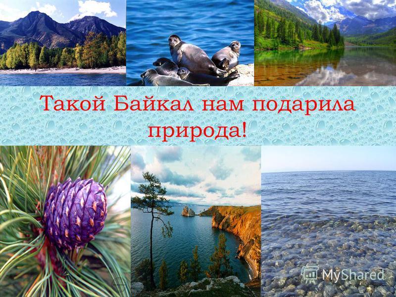 Такой Байкал нам подарила природа!