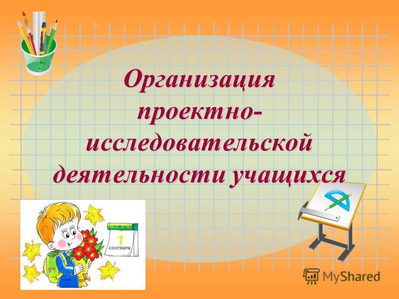 Организация проектно- исследовательской деятельности учащихся