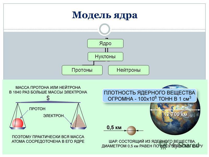 Модель ядра Ядро Нуклоны Протоны Нейтроны