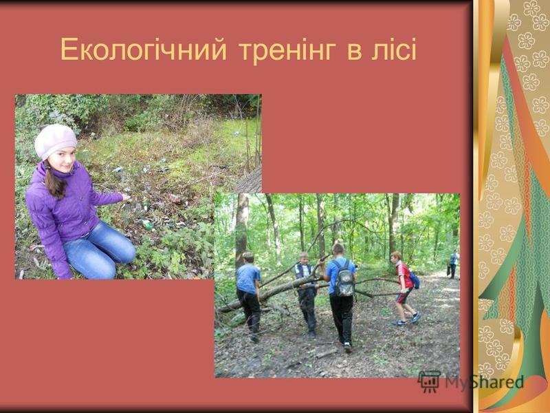 Екологічний тренінг в лісі