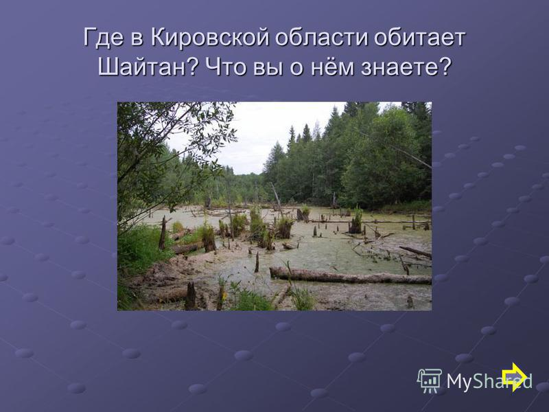 Где в Кировской области обитает Шайтан? Что вы о нём знаете?