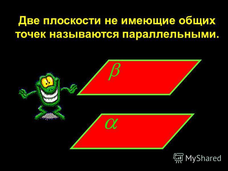 Две плоскости не имеющие общих точек называются параллельными.