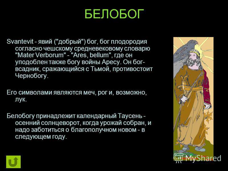 БЕЛОБОГ Svantevit - явий (