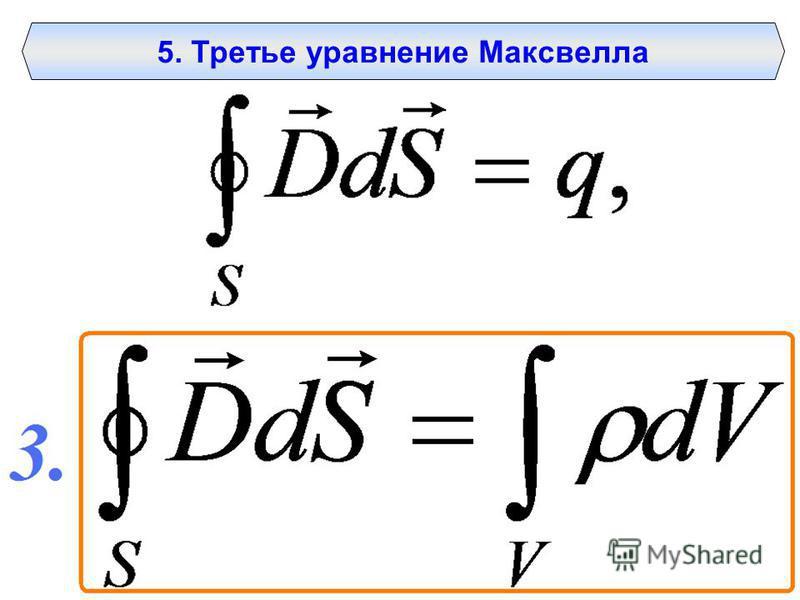 5. Третье уравнение Максвелла