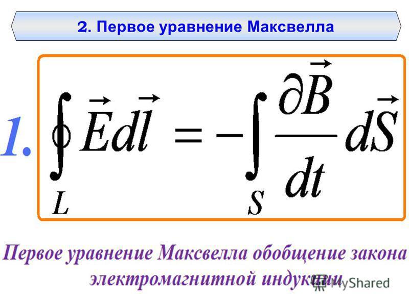 2. Первое уравнение Максвелла