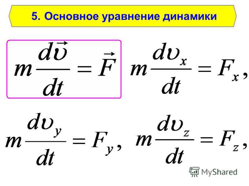 5. Основное уравнение динамики