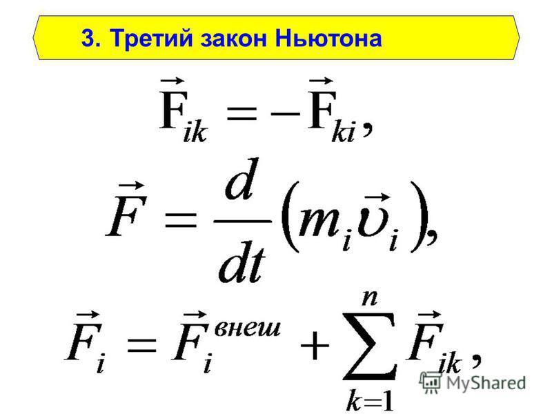 3. Третий закон Ньютона