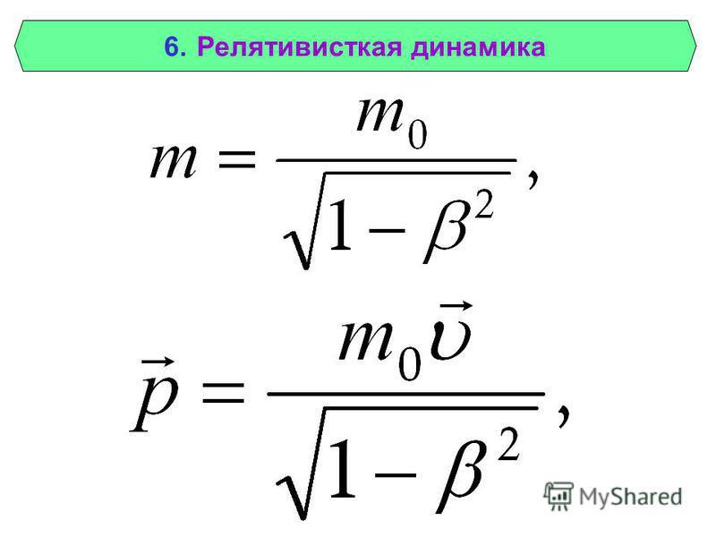 6. Релятивисткая динамика