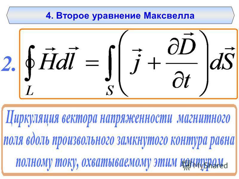 4. Второе уравнение Максвелла