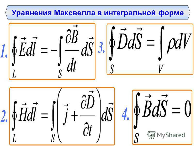 Уравнения Максвелла в интегральной форме