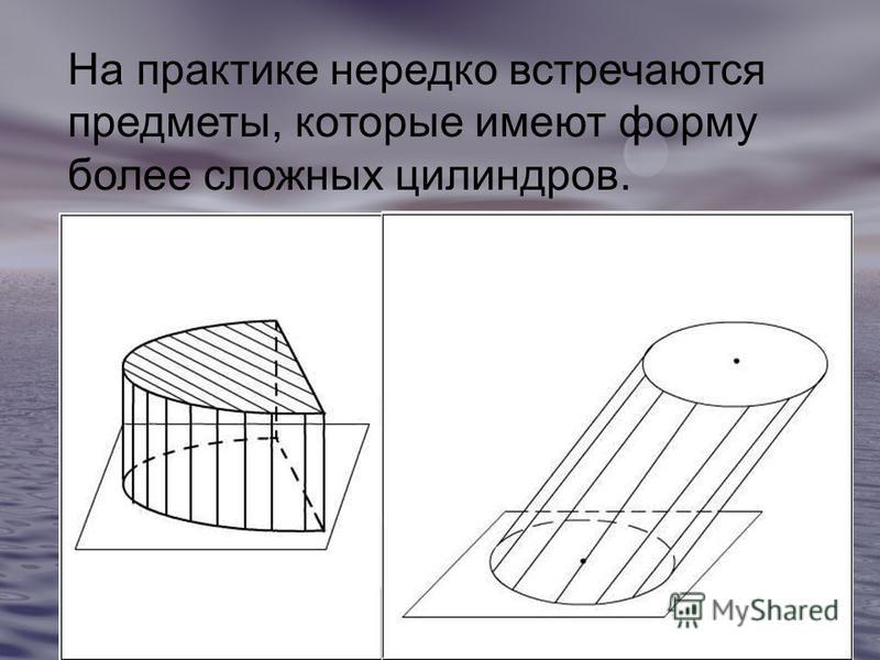 На практике нередко встречаются предметы, которые имеют форму более сложных цилиндров.