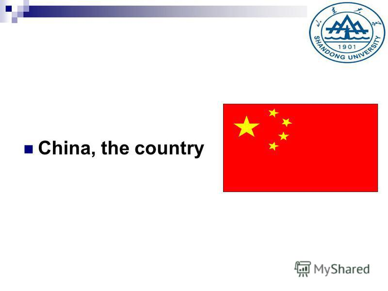China, the country