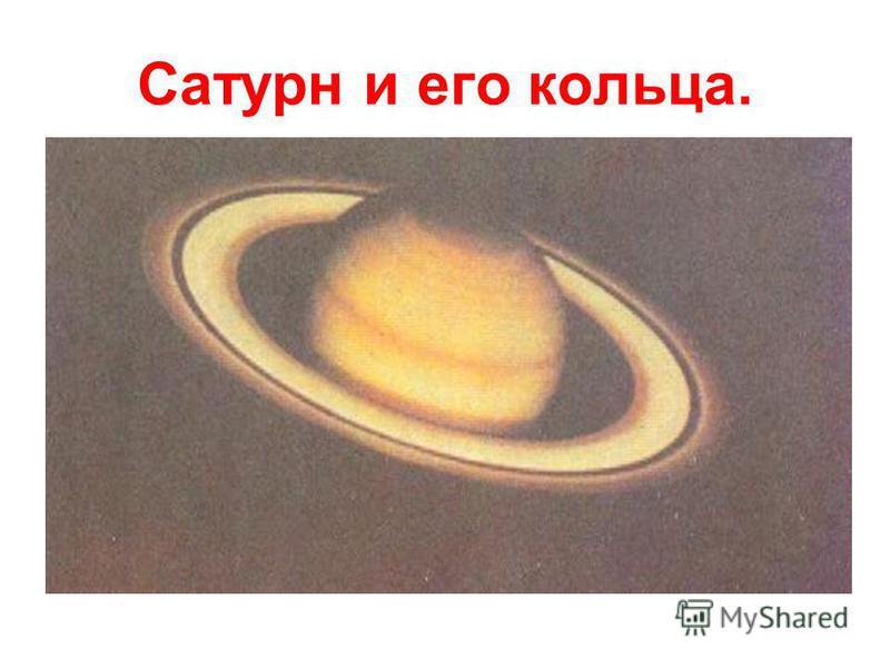 Сатурн и его кольца.