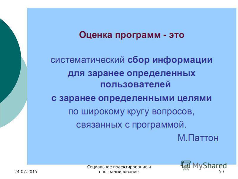 24.07.2015 Социальное проектирование и программирование 50
