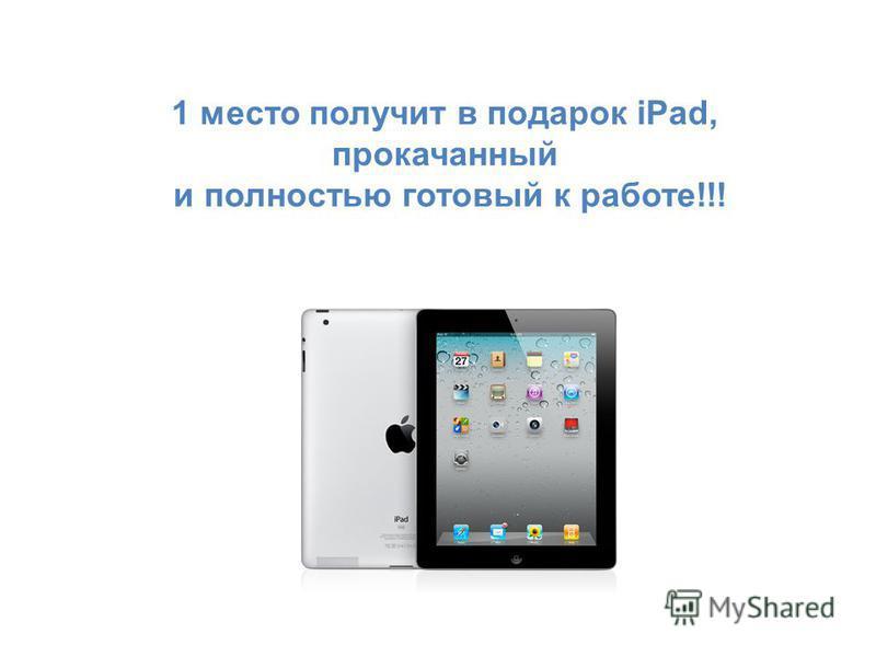 1 место получит в подарок iPad, прокачанный и полностью готовый к работе!!!