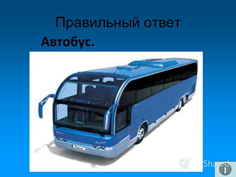 Правильный ответ Автобус.