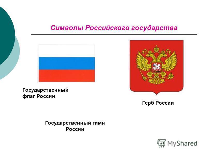Символы Российского государства Государственный флаг России Герб России Государственный гимн России