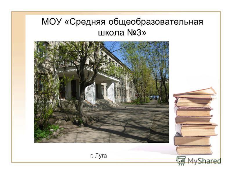 МОУ «Средняя общеобразовательная школа 3» г. Луга